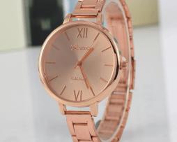 Reloj Metalico Mini Rosado - relojes mujer