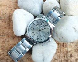 Reloj Metalico Plateado Big Number Plateado - relojes mujer