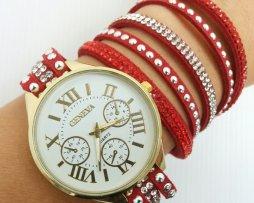 reloj-rinestone-cronografo-rojo