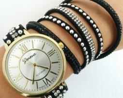 reloj-rinestone-numeros-romanos-negro