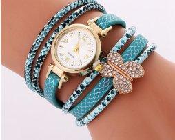 Reloj Pulsera Mariposa Agua Marina - relojes mujer