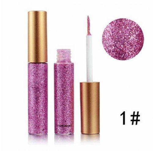 Delineador Ojos Liquido Glitter Numero 1 - maquillaje