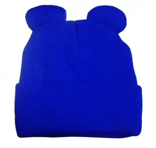 Gorro de Lana Estilo Orejas Azul - moda mujer