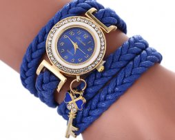 Reloj Pulsera Cordon Trenza Azul - relojes mujer