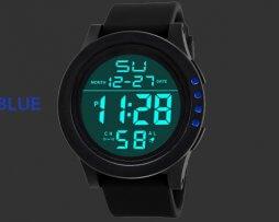 Reloj Digital Unisex Deportivo Negro Azul - relojes mujer
