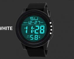 Reloj Digital Unisex Deportivo Negro Blanco - relojes mujer