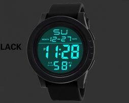 Reloj Digital Unisex Deportivo Negro