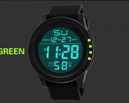 Reloj Digital Unisex Deportivo Negro Verde - relojes mujer
