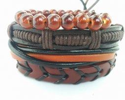 Pulseras para Hombre Beads Set - pulseras cuero