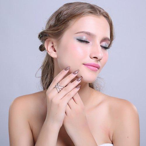 Anillo Rinestone Plateado Zirconia - anillos mujer