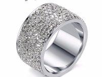 Anillo Rinestone Plateado Cristal - anillos mujer