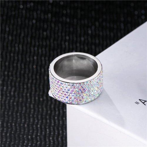Anillo Rinestone Plateado Tornasol - anillos mujer