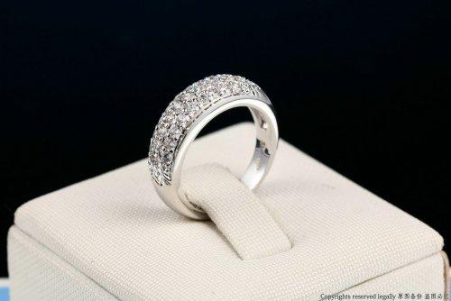 Anillos Rinestone Simple Design Plateado - anillos mujer