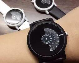 Reloj Unisex Disco Giratorio Negro - relojes mujer