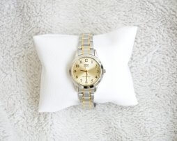 Reloj Metalico Plateado Q&Q Original Diseño 10