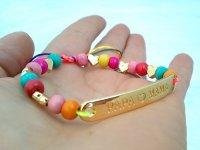 Pulsera Papa Ama a Mama Diseño 3 - pulsera artesanal