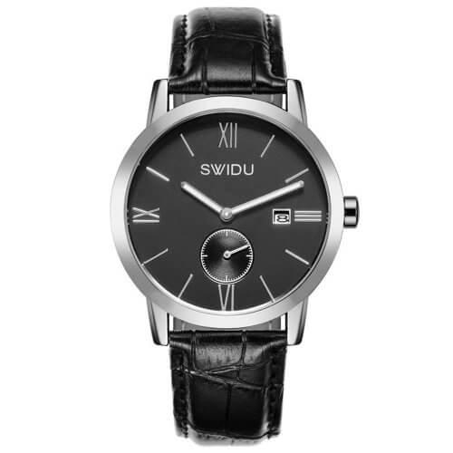 Reloj Calendario Romano Negro - relojes hombre