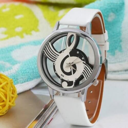 Reloj Unisex Nota Musical Blanco Silver - relojes mujer