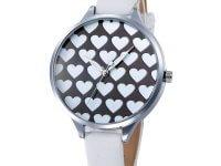Reloj Blanco Mini Correa Corazones - relojes mujer
