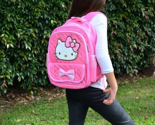 Morral Hello Kitty Rosado - bolsos niña