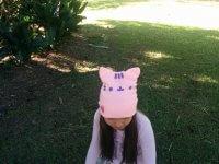 Gorro de Lana Kitty Rosado - gorros moda