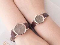 Relojes Para Pareja Cuero Cafe Formal - relojes pareja
