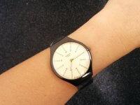 Reloj Unisex Malla Tipo Swatch Negro - relojes unisex