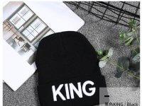 Gorro de Lana Negro Hombre King - gorros hombre