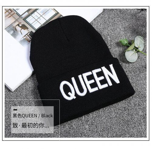 Gorro de Lana Negro Mujer Queen - gorros mujer