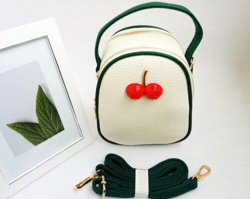 Mini Bolso Mujer Cereza Beige - bolsos mujer