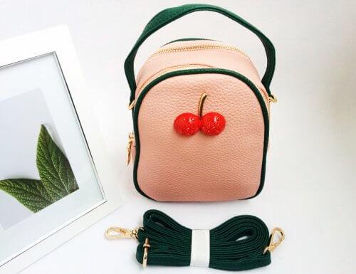 Mini Bolso Mujer Cereza Rosado - Bolsos mujer
