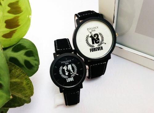 Relojes Pareja Love Forever Blanco Negro - relojes pareja