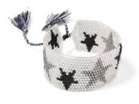 Pulsera Mujer Blanca Miyuki Estrellas - pulseras mujer