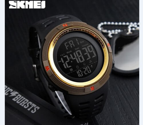 Reloj Digital Hombre Skmei Negro Gold - relojes hombre