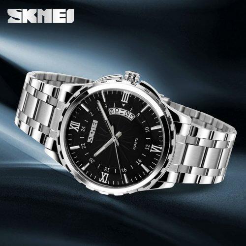 Reloj Hombre Skmei Acero Calendario - relojes hombre