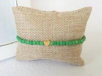 Pulsera Mujer Chaquiron Corazon Verde - pulseras mujer
