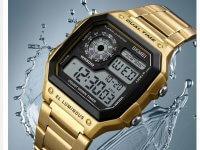 Reloj Hombre Skmei Retro Digital Dorado - relojes hombre
