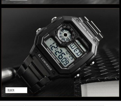 Reloj Hombre Skmei Retro Digital Negro - relojes hombre