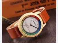 Reloj Estilo Madera Cafe Multicolor - relojes mujer