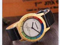 Reloj Estilo Madera Negro Multicolor - relojes mujer