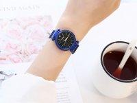 Reloj Mujer Azul Malla Iman Diamond - relojes mujer