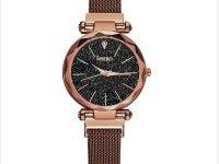 Reloj Mujer Cafe Malla Iman Diamond - relojes mujer