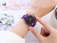 Reloj Mujer Morado Malla Iman Diamond - relojes mujer