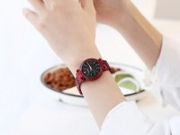 Reloj Mujer Rojo Malla Iman Diamond - relojes mujer