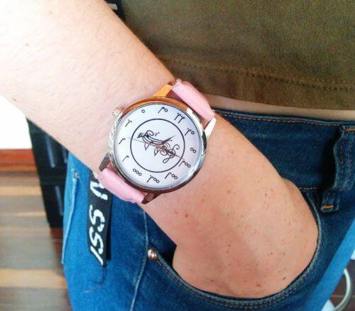 Reloj Mujer Cuero Notas Rosado - relojes mujer