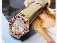 Reloj Mujer Piedra Multicolor Beige - relojes mujer