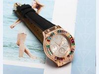 Reloj Mujer Piedra Multicolor Negro - relojes mujer