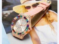 Reloj Mujer Piedra Multicolor Rosado - relojes mujer