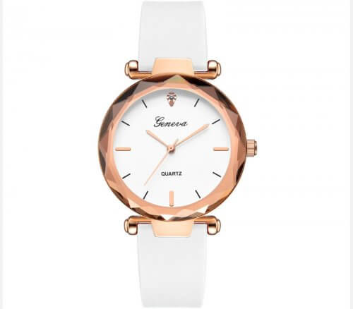 Reloj Mujer Silicona Diamond Blanco - relojes mujer