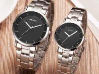 Reloj Pareja Metalico Simple Desing - relojes pareja